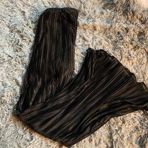 Black wide leg palazzo pants